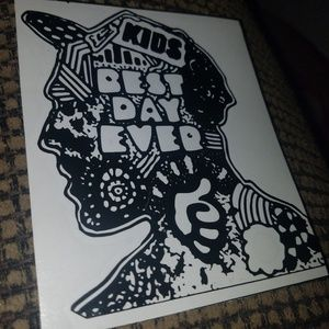 "5"" mac miller ""best day ever""  black decal."